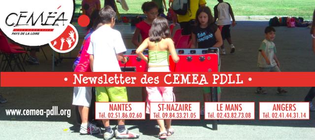 Newsletter des CEMEA Pays de la Loire